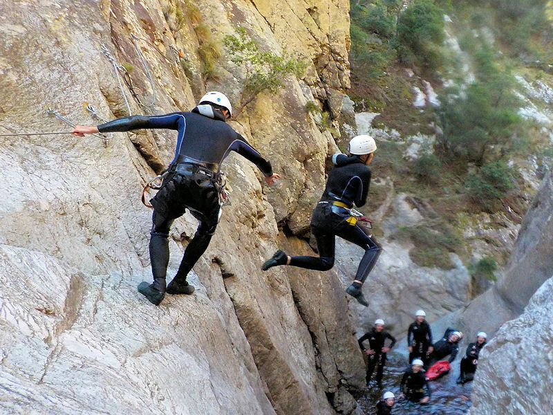 Canyoning Sportif à proximité d'Amélie les Bains